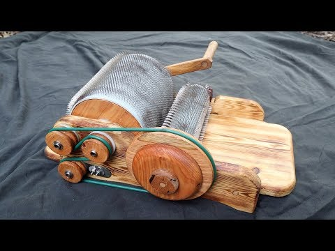 Hand Made Drum Carder As A Present For My Girlfriend