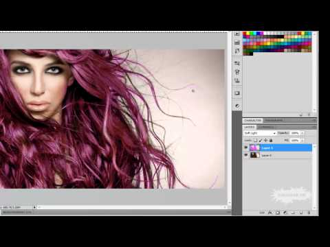 Como cambiar el color de cabello en Photoshop