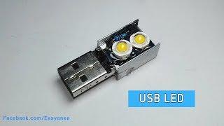 How to make a USB Led Light | DIY Mini LED Night Lamp