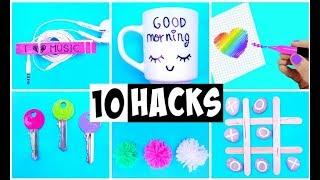 10 AMAZING HACKS THAT MAKE LIFE EASIER | DIY Life Hacks and Crafts