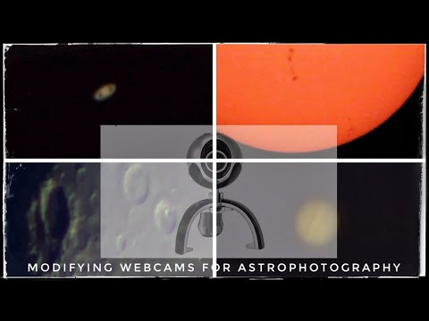 Modifying a webcam for planetary imaging for under 20 and tips