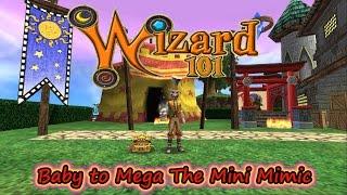 Wizard101 Pet Training Baby to Mega The Mini Mimic Gold Key Boss Pet