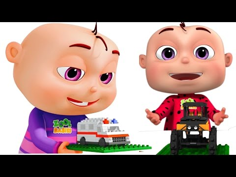 Five Little Babies Building Transport Vehicles Vehicle Learning For Kids Trucks Cars School Bus