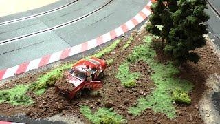 Carrera Rennbahn Tagebuch - #8 - Dekoration bauen mit Slotcar, Rennfahrer crash