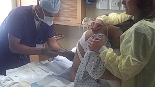 Shalyne getting the Epidural