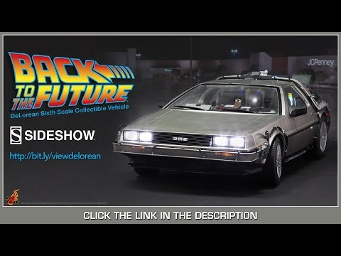 Back To The Future Hot Toys Delorean Time Machine Movie Masterpiece 1 6 Scale Vehicle Review