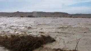 Flash floods 18.1.2010 negev israel שיטפון  www.soscomp.co.il