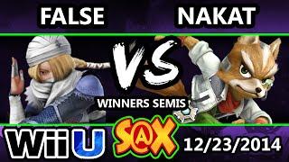 S@X - LoF | False (Luigi) Vs. LoF | Nakat (Ness, Fox) SSB4 Winners Semis - Smash 4 Wii U