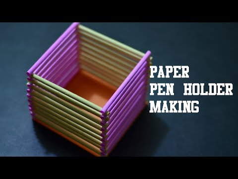 Xxx Mp4 How To Make Easy Peaper Pen Pencil Holder Easy Paper Craft 3gp Sex