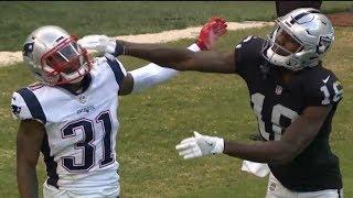 Johnny Holton Takes A Swing At Jonathan Jones   Patriots vs. Raiders   NFL