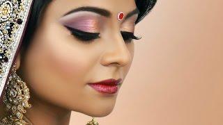 Gold and Burgundy Bridal Makeup