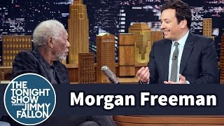 Morgan Freeman Snores During Jimmy