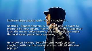 "Eminem hosts pop-up with ""mom"