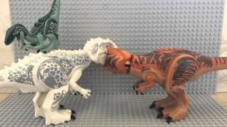 LEGO JURASSIC WORLD ANIMATION T.REX VS INDOMINUS REX ANIMATION