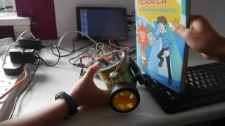 Part 3: Raspberry Pi Robotics.  An obstacle detecting wheeled bot.