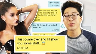 Pranking a Hot Girl with Arianna Grande 'Let Me Love You' Lyrics! GONE WRONG!!