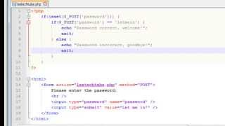 PHP Programming - Ultra Simple Login Script (Password Protection HTML Form)