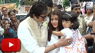 (Video) Amitabh Bachchan PAMPERS Aaradhya Bachchan | LehrenTV