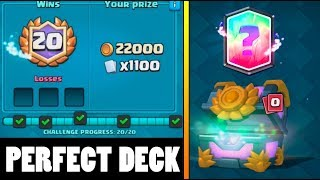 PERFECT 20 WINS DECK FOR CROWN CHALLENGE :: Clash Royale :: LEGENDARY FROM CHEST OPENING!