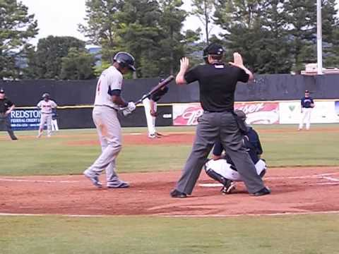 Tennessee Smokies Addison Russell #4 crushes a Grand Slam, 7/20/14 vs. Huntsville