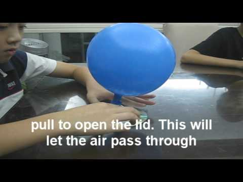 Home made Hovercraft Kids Cool Science