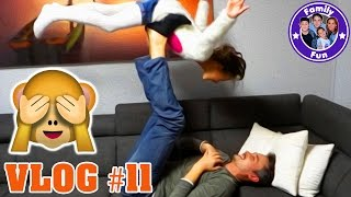 GYMNASTIK MIT PAPA | Daily Vlog #11 Our life FAMILY FUN