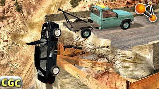 Evacuation of Bandit cars and Destroying them (Towing to destruction) BeamNG Drive