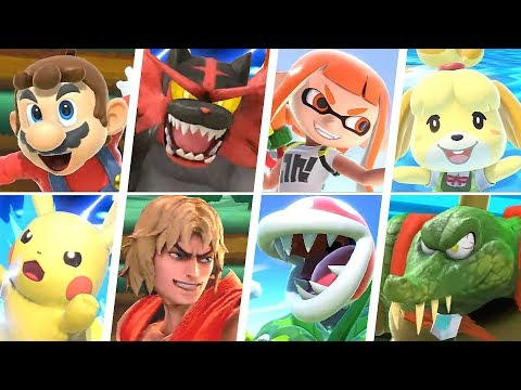 Super Smash Bros Ultimate All 77 Characters Gameplay Final Smashes Final Roster