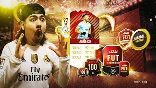 ICON + RED INFORM AGUERO IN THE SAME PACK!! FIFA 18