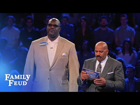 Shaq and Charles Barkley s EPIC Fast Money Celebrity Family Feud