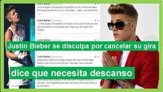 Justin Bieber Se Disculpa Por Cancelar Su Gira Y Dice Que Necesita Descanso