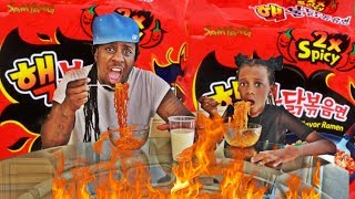 2x Spicy Noodle Challenge ft. My Dad From Panton Squad