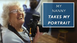 MY NAN TAKES MY PORTRAIT...AND IT'S SO FUNNY!