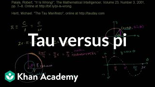 Tau versus pi | Graphs of trig functions | Trigonometry | Khan Academy