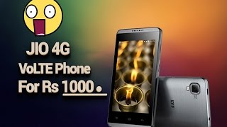 Jio Launching Rs 1000 LYF Phone with 4G VoLTE   January 2017