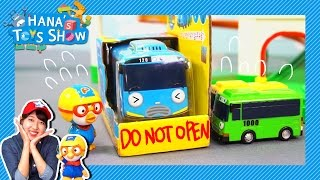 Tayo got stuck in a box! l Hana's Toy Show l Hana the Mechanic l Tayo the Little Bus
