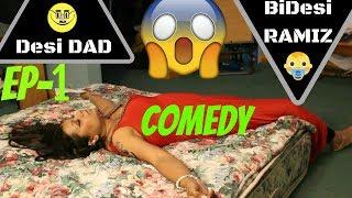 Bangla comedy natok || Desi DAD, bidesi RAMIZ - Episode 1 || ENGLISH SUB