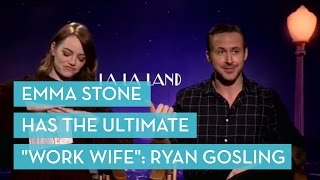 "Emma Stone Has The Ultimate ""Work Wife"": Ryan Gosling"