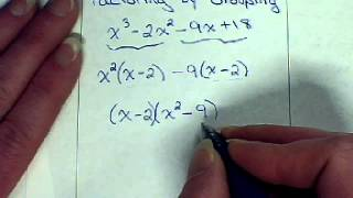 Polynomials - Factoring By Grouping
