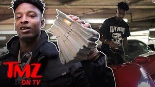 21 Savage: Stacks Of Chains and Cash   TMZ TV