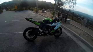 Indian (Desi) motorcycle rider riding Kawasaki ZX6R to the Top of Topanga.