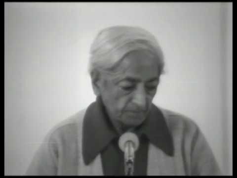 J. Krishnamurti - Brockwood Park 1977 - School Discussion 1 - Sex, money, power and relationship