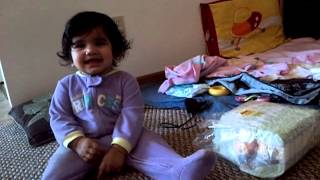Ashu playing with ball.MP4