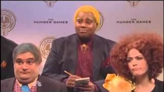"Jennifer Lawrence 'SNL' Hunger Games Spoof ""Peeta's Testoterone"""