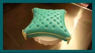 Kissen Fondant Torte - Pillow Cake Tutorial - Polster Kissen Fondant Kuchen - Kuchenfee