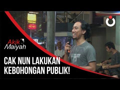 Cak Nun Lakukan Kebohongan Publik!