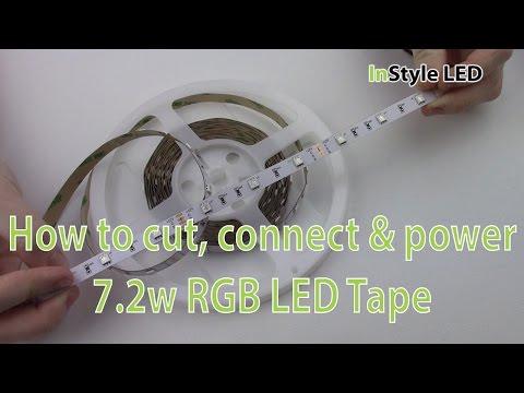 LED Strip Lights - How to cut, connect & power 7.2w RGB LED Tape