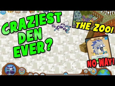 CRAZIEST DEN EVER DID I REALLY GET THIS GIFT ANIMAL JAM