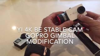 YI 4K camera GoPro gimbal modification