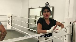 """Mia St. John:"""" I fought Holly Holm and you can't find one single punch she landed!"""" - EsNews"""